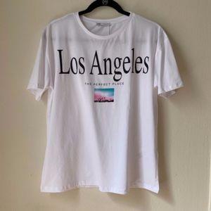 Zara NWT Los Angeles Graphic T-Shirt UB1